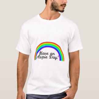 T-shirt Ayez un jour d'Aspie (l'arc-en-ciel)