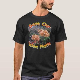 T-shirt Azalée indigène de flamme
