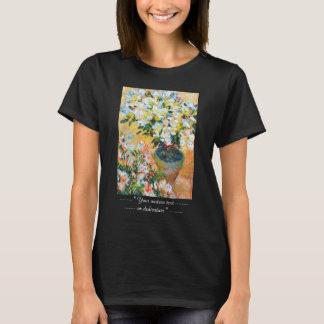 T-shirt Azalées blanches dans un pot, Claude Monet 1885