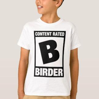 T-shirt B évalué satisfait : Birder