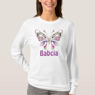 T-shirt Babcia a personnalisé le papillon