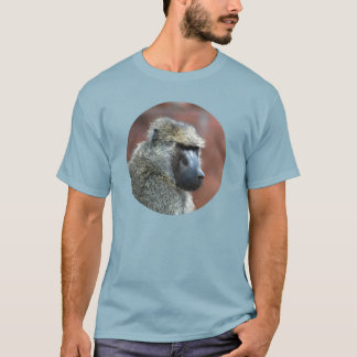 T-shirt Babouin olive grincheux