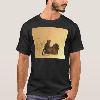 T-shirt Babouins de mère et de bébé - primats de singes de
