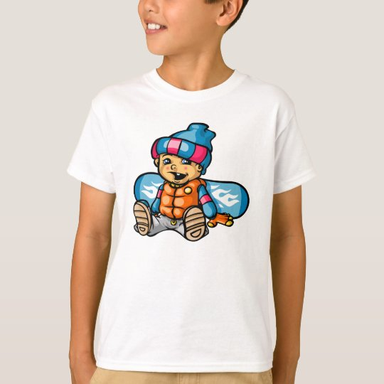 T-shirt Baby snowboarder
