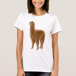 T-shirt Babydoll amical de dames d'alpaga de Brown