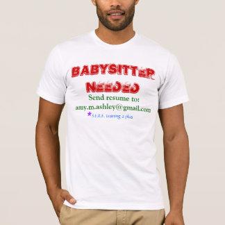 T-shirt Babysitter requise