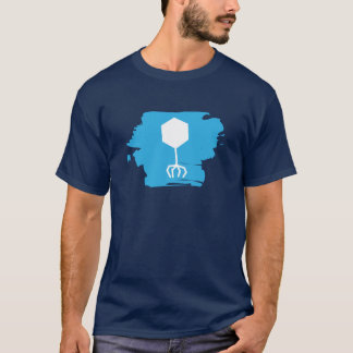 T-shirt bactériophage de logo (bleu)