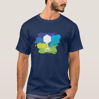 T-shirt bactériophage de logo (multicolore ;