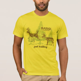 T-shirt Badiner juste drôle ! Chasse