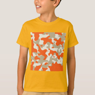T-shirt BAGOUT BEIGE BRONZAGE ORANGE du CAMOUFLAGE