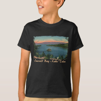 T-shirt Baie verte - le lac Tahoe badine la chemise