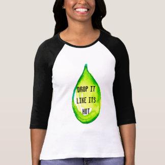 T-shirt Baisse verte d'huiles essentielles il aiment sa