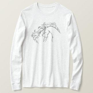 T-shirt balayé par le vent de la douille des