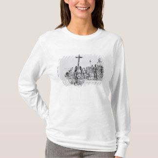T-shirt Balboa installant la croix sur le rivage