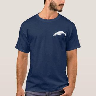 T-shirt Baleine arrière de bosse - silhouette blanche
