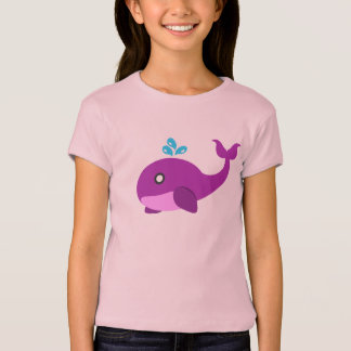 T-shirt Baleine rose et pourpre