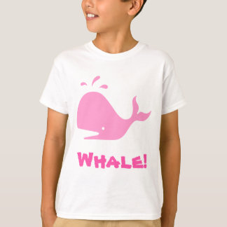 T-shirt Baleine ! Rose. Personnalisable