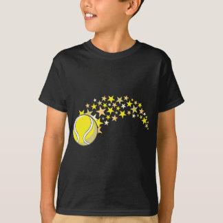 T-shirt Balle de tennis de vol avec des étoiles