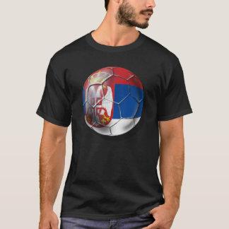 T-shirt Ballon de football serbe pour tous les amants de