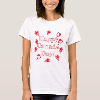 T-shirt Ballons de feuille d'érable de jour du Canada