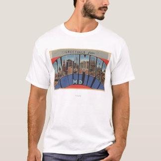 T-shirt Baltimore, le Maryland - grandes scènes de lettre