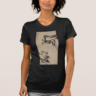 T-shirt Bambou, roche, et canards de mandarine par Bada