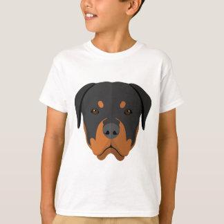 T-shirt Bande dessinée adorable de rottweiler