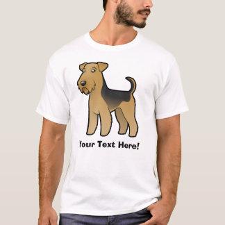 T-shirt Bande dessinée Airedale Terrier/gallois Terrier