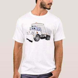 T-shirt Bande dessinée blanche de charrue de camion à
