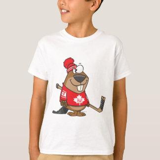 T-shirt bande dessinée canadienne idiote de castor