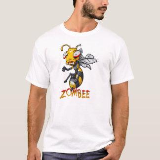 T-shirt Bande dessinée d'abeille de zombi