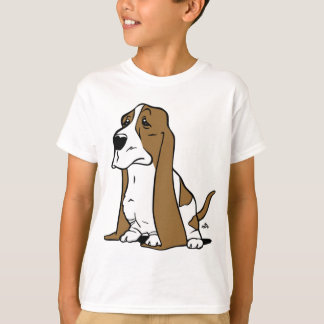T-shirt Bande dessinée de chien de basset