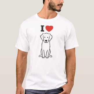 T-shirt Bande dessinée de chien de golden retriever