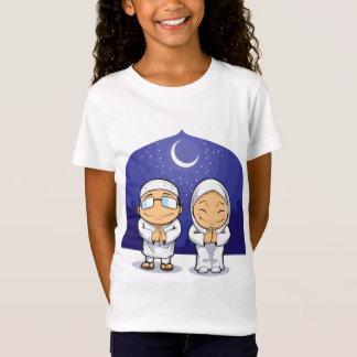 T-Shirt Bande dessinée de femme musulmane Ramadan de