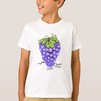 T-shirt Bande dessinée de fruit - raisins