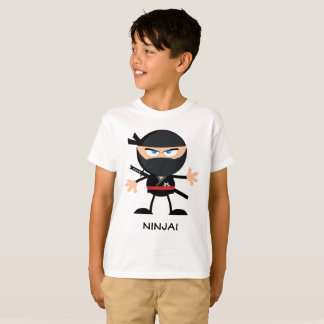 T-shirt Bande dessinée de guerrier de Ninja