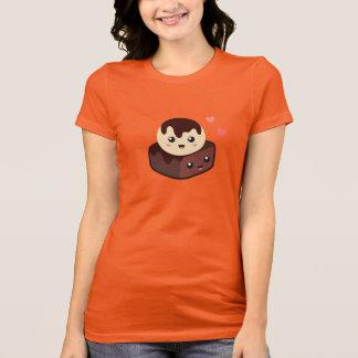 T-shirt Bande dessinée de Kawaii de glace à la vanille et