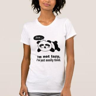 T-shirt Bande dessinée de panda mignon de sommeil