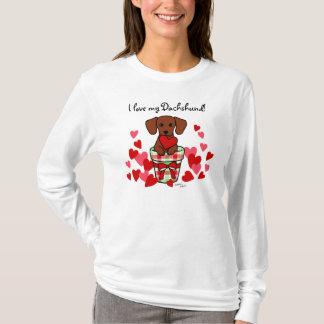 T-shirt Bande dessinée de Valentine de teckel