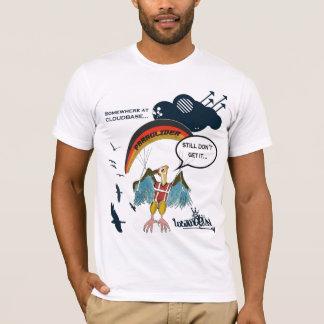 T-shirt Bande dessinée de vautour de parapentisme