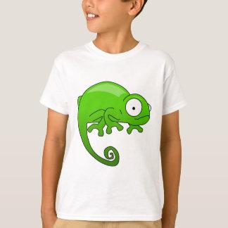 T-shirt bande dessinée d'iguane de lézard vert