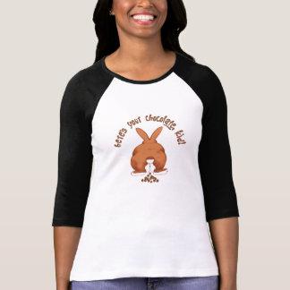 T-shirt Bande dessinée drôle de lapin de Pâques