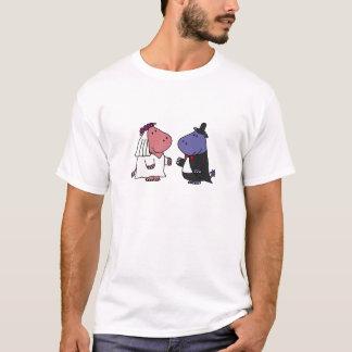 T-shirt Bande dessinée drôle de mariage de jeunes mariés