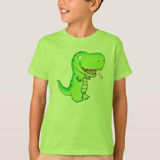 T-shirt bande dessinée drôle mignonne T-rex d'enfants