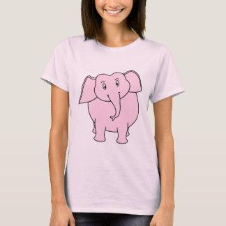 T-shirt Bande dessinée d'un éléphant rose
