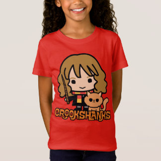 T-Shirt Bande dessinée Hermione et Crookshanks