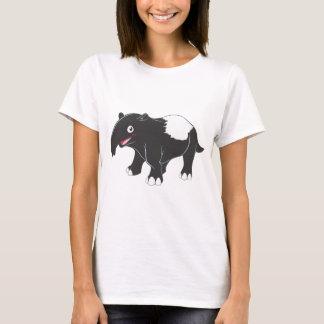 T-shirt Bande dessinée heureuse de tapir