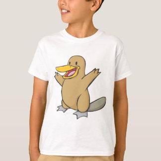 T-shirt Bande dessinée heureuse d'ornithorynque