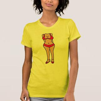 T-shirt Bande dessinée hilare de corps de maillot de bain