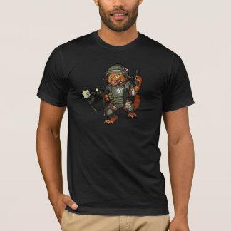 T-shirt Bande dessinée marine d'arme à feu de mise à feu